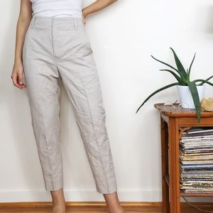 Vince Carrot Tapered Leg Ankle Pant Cream